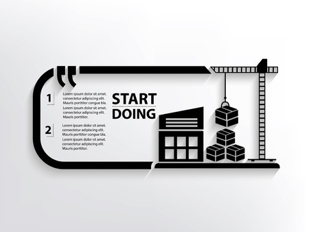 storage facility: Warehouse concept design,clean vector