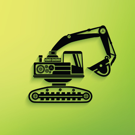 Excavator concept design,clean vector Illustration
