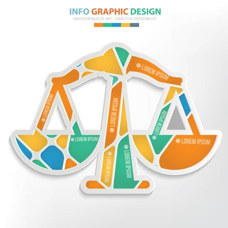justice scale: Justice scale concept design,vector