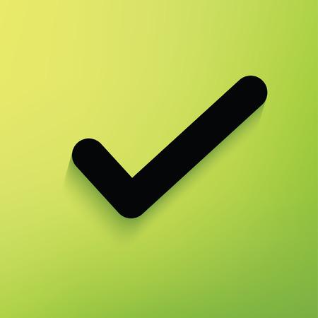 quadrate pictogram: Check mark concept design,vector