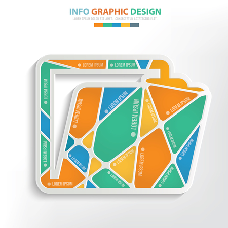 Folder concept design,vector