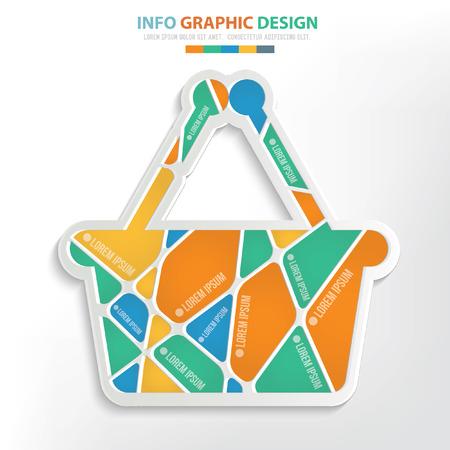 Basket concept design,vector Illustration