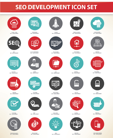 link icon: SEO development icons concept design,vector Illustration