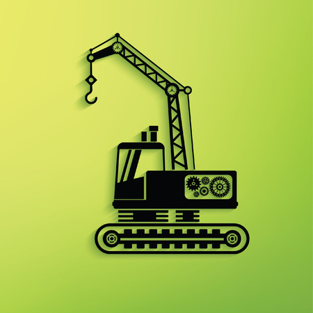 compact track loader: Construction car concept design,vector Illustration