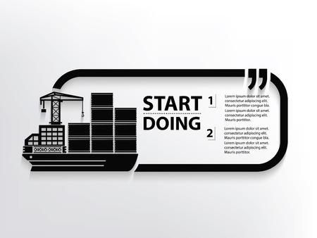 concept design Porte-conteneurs, vecteur Vecteurs