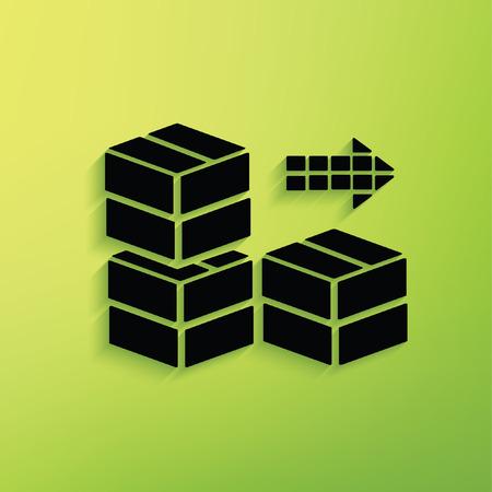 tree service pictures: Box,cargo concept design,vector