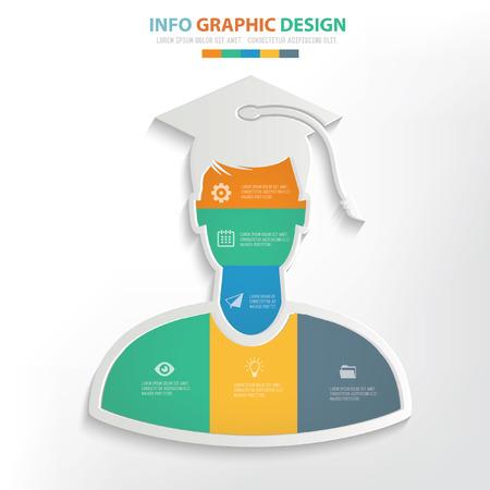 Istruzione concetto di design, vettore Vettoriali