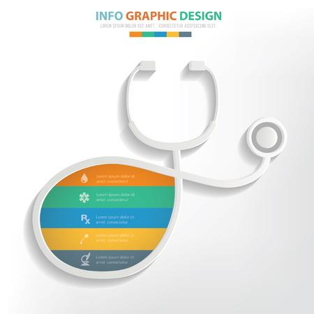 eye bandage: Medical concept design,clean vector
