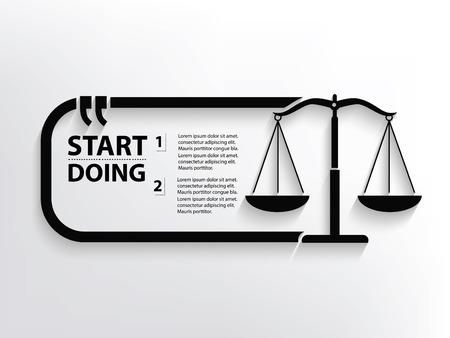 justice scale: Justice scale concept design,clean vector