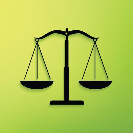 femida: Justice scale concept design,clean vector