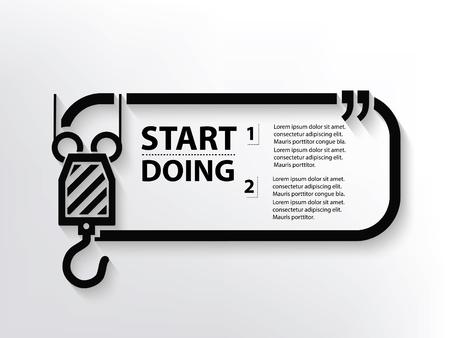 hook up: Crane concept design,clean vector