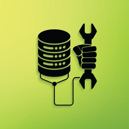 database concept: Database concept design,clean vector