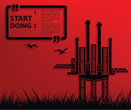 pollutants: Industry concept design,clean vector