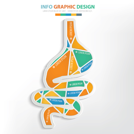 chronic: Stomach concept design,clean vector