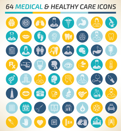 Medical icon set concept design,clean vector Vectores