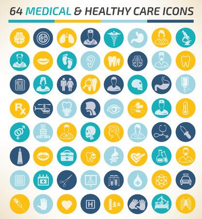 Medical icon set concept design,clean vector Stock Illustratie