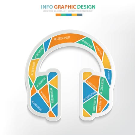 earphone: Earphone concept design,clean vector