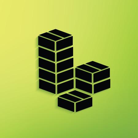 stockpile: box,cargo concept design,clean vector