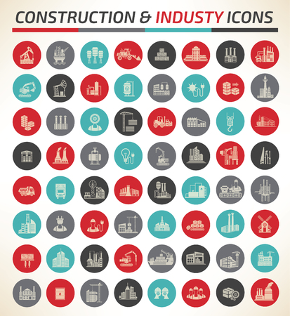 power station: Construction and industry icon design,clean vector