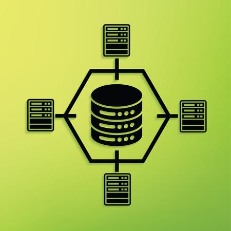 data management: Network concept design,clean vector Illustration
