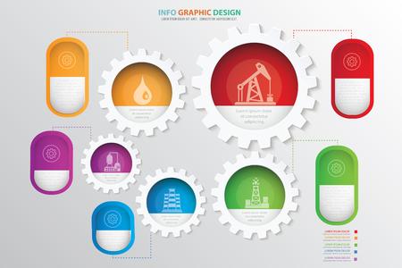 Erdölindustrie-Konzeptdesign, sauberer Vektor