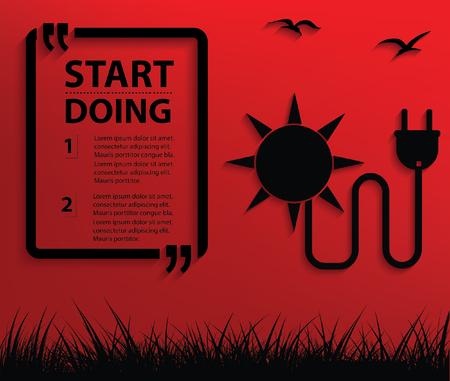 sun energy: Sun energy concept design,clean vector Illustration
