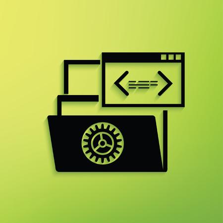 Dateifreigabe Konzept-Design, sauberer Vektor