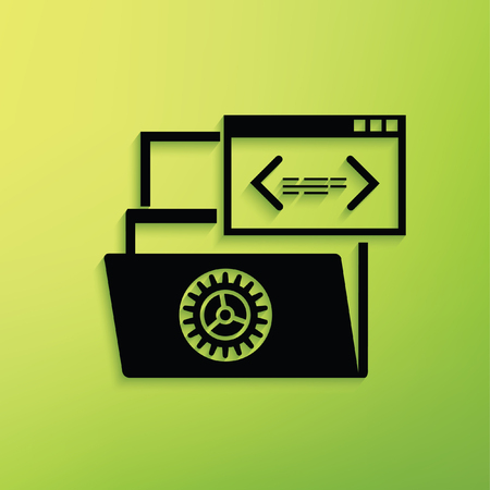 File share concept design,clean vector
