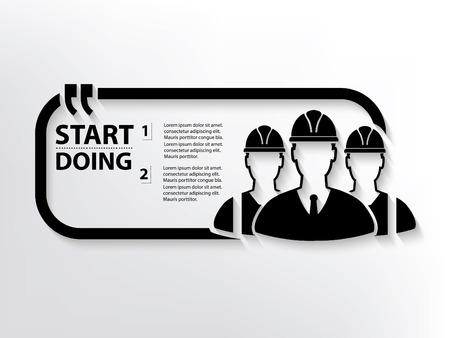lathe: Engineer concept design,clean vector Illustration