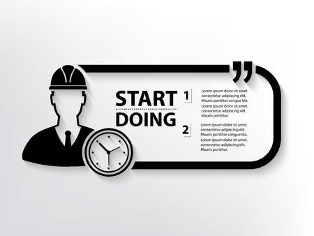 vernier: Engineer concept design,clean vector Illustration