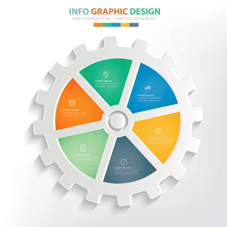 Gear concept design,clean vector Ilustrace