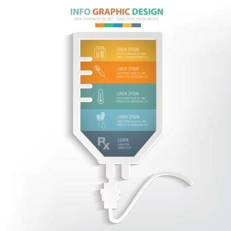 Médico, el concepto de solución salina diseño, limpio vector Ilustración de vector
