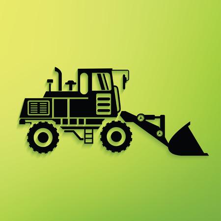 Construction car concept design,clean vector