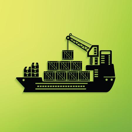 Container ship concept design,clean vector