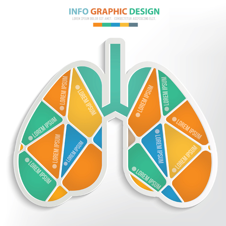 Lung concept design,clean vector