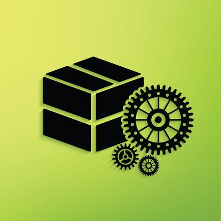 Box concept design,clean vector