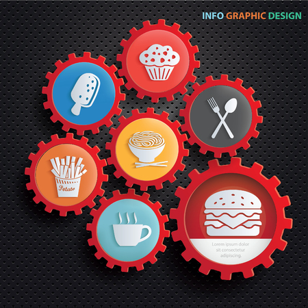 Food and drink design, clean vector