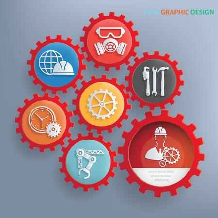 Construction info graphic design,clean vector
