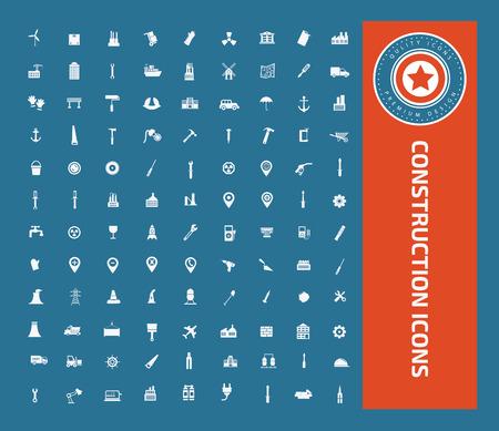Construction icon set design,clean vector