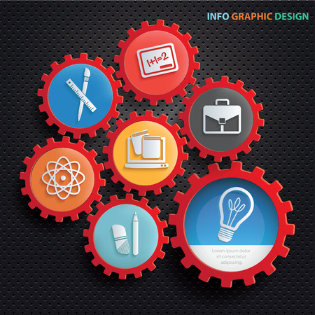 Education info graphic design,clean vector