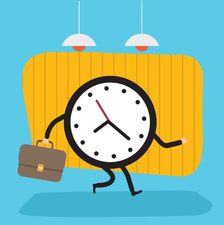 Clock design,clean vector