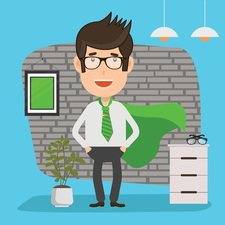 Businessman design,clean vector Illustration