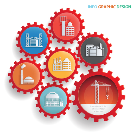 dangerous construction: Industry info graphic design,clean vector