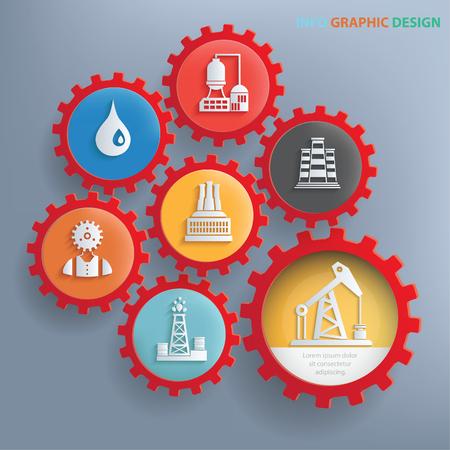 石油業界情報グラフィック デザイン、きれいなベクトル  イラスト・ベクター素材