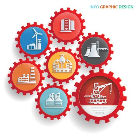 業界情報グラフィック デザイン、きれいなベクトル  イラスト・ベクター素材