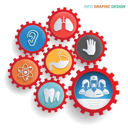 医療情報のグラフィック デザイン、きれいなベクトル  イラスト・ベクター素材