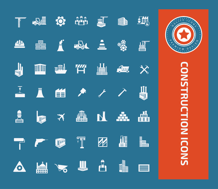 cutter: Construction icons concept design,clean vector