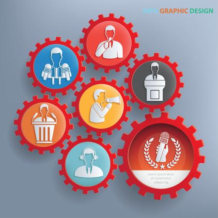 overworking: Businessman concept design,clean vector