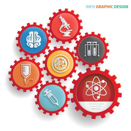 Medical concept design,clean vector