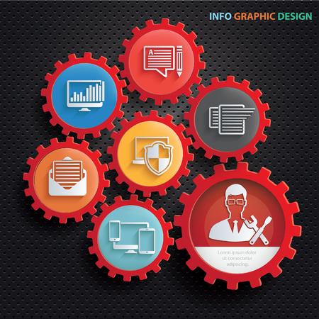 Admin and development concept design,clean vector Illustration